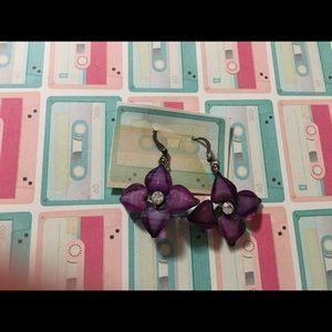 *5/$15* purple flower earrings